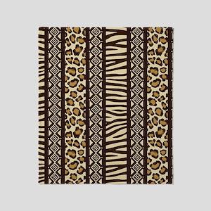 African Print Throw Blanket