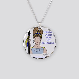 Spartan Ladies Take No Priso Necklace Circle Charm