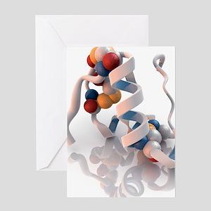 Insulin molecule Greeting Card