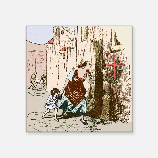 "Plague quarantine, England, Square Sticker 3"" x 3"""