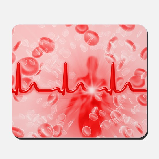 Red blood cells and ECG Mousepad