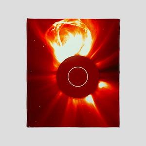 Solar eruption Throw Blanket