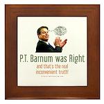 P.T. Barnum Al Gore Framed Tile