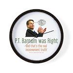 P.T. Barnum Al Gore Wall Clock