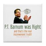 P.T. Barnum Al Gore Tile Coaster