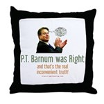 P.T. Barnum Al Gore Throw Pillow