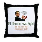 P.T. Barnum Al Gore Throw Pillow