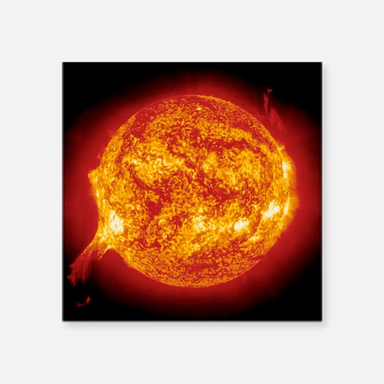 "Solar prominence Square Sticker 3"" x 3"""