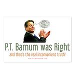 P.T. Barnum Al Gore Postcards (Package of 8)