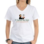 P.T. Barnum Al Gore Women's V-Neck T-Shirt