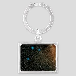 Sagittarius stars Landscape Keychain
