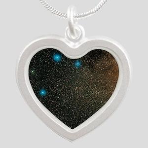 Sagittarius stars Silver Heart Necklace