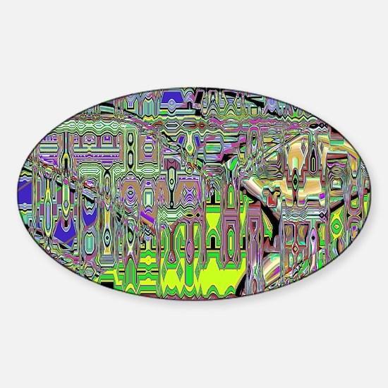 Gumby Loves Gidget B SB Sticker (Oval)