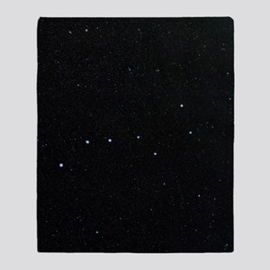 The Plough in Ursa Major, optical im Throw Blanket