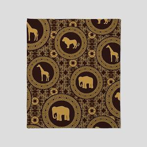 African Animal Pattern Throw Blanket
