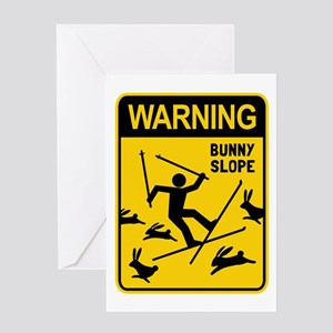 WARNING: Bunny Slope Greeting Card