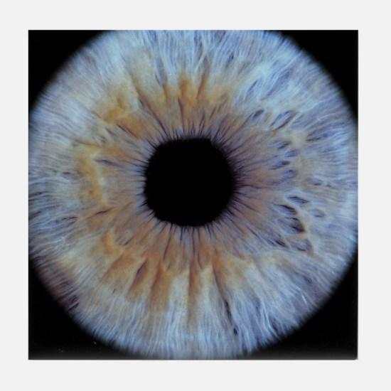 The iris of the eye Tile Coaster
