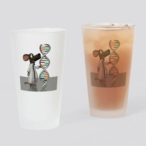 Transgenic mouse, conceptual artwor Drinking Glass