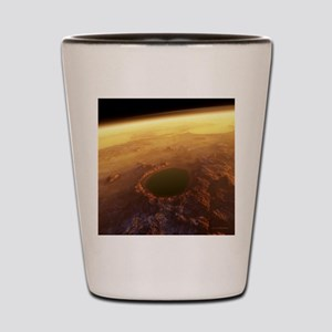 Water on Mars Shot Glass