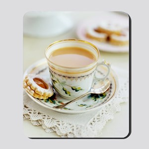 Tea and biscuits Mousepad