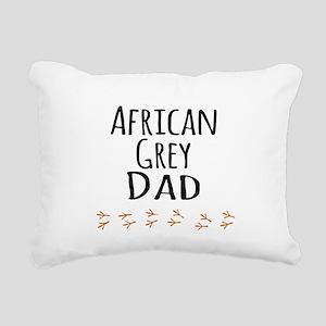 African Grey Dad Rectangular Canvas Pillow