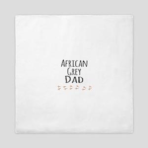 African Grey Dad Queen Duvet