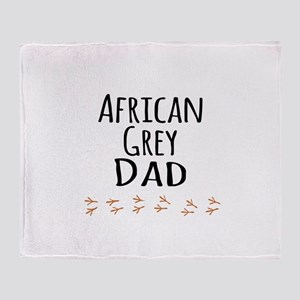 African Grey Dad Throw Blanket