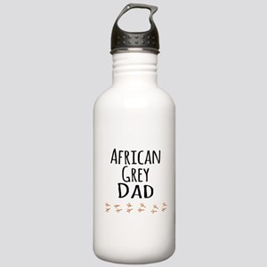 African Grey Dad Water Bottle