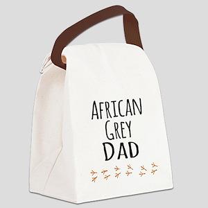 African Grey Dad Canvas Lunch Bag