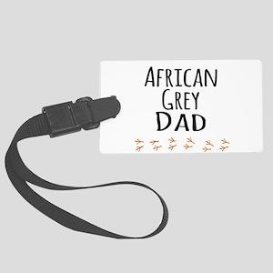 African Grey Dad Luggage Tag