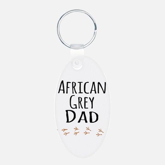 African Grey Dad Keychains