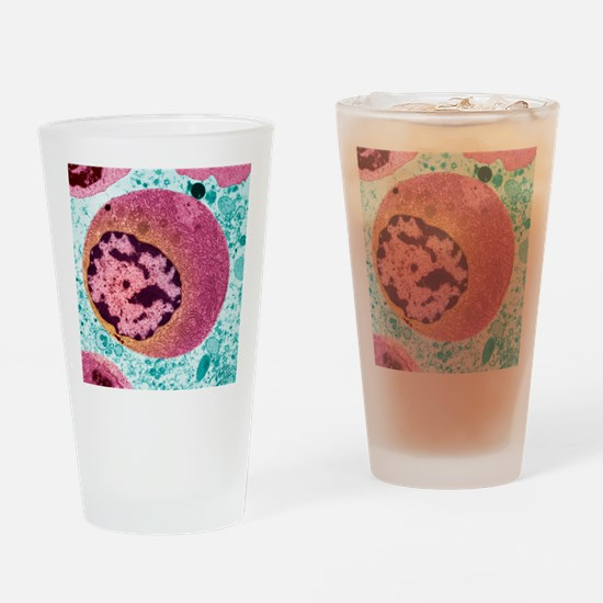 Thyroid cancer cell, TEM Drinking Glass