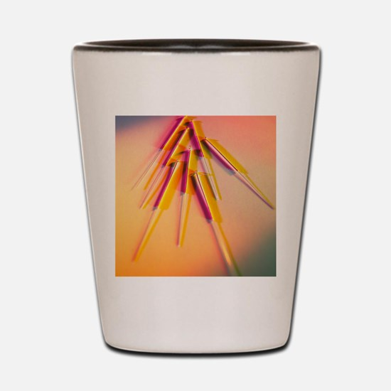 View of several acupuncture needles Shot Glass