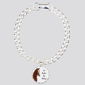 Id Rather Be Riding! Hor Charm Bracelet, One Charm
