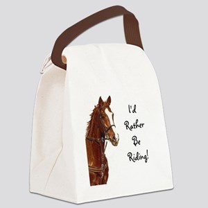 Id Rather Be Riding! Horse Canvas Lunch Bag