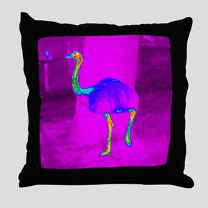 Thermogram of a rhea Throw Pillow