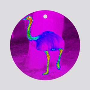Thermogram of a rhea Round Ornament