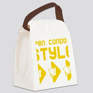 Open Condom Style Canvas Lunch Bag