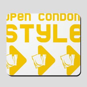 Open Condom Style Mousepad