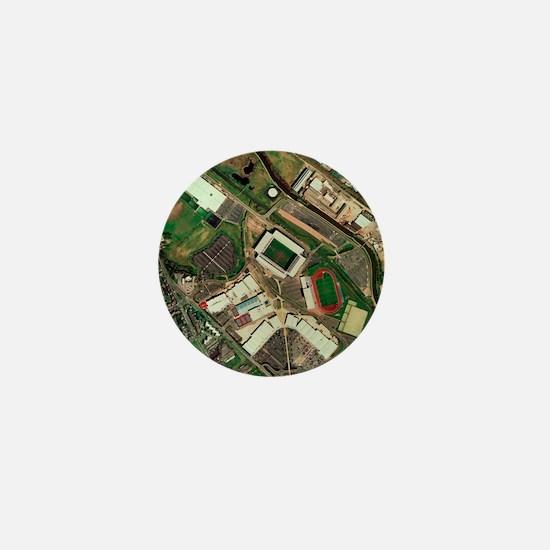 Wigan Athletic's JJB Stadium, aerial v Mini Button