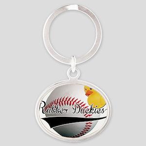 Rubber Duckies Jersey Oval Keychain