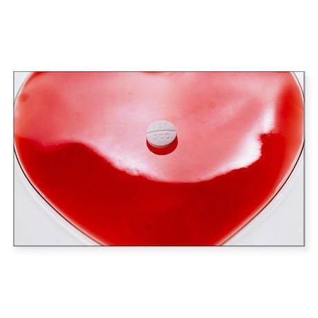 Unhealthy heart Sticker (Rectangle)