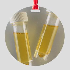 Urine samples Round Ornament