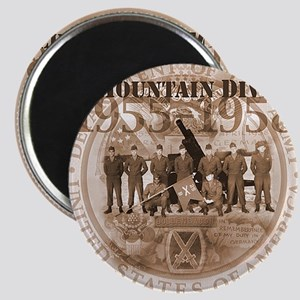 10th Mountain Division Plain background Magnet