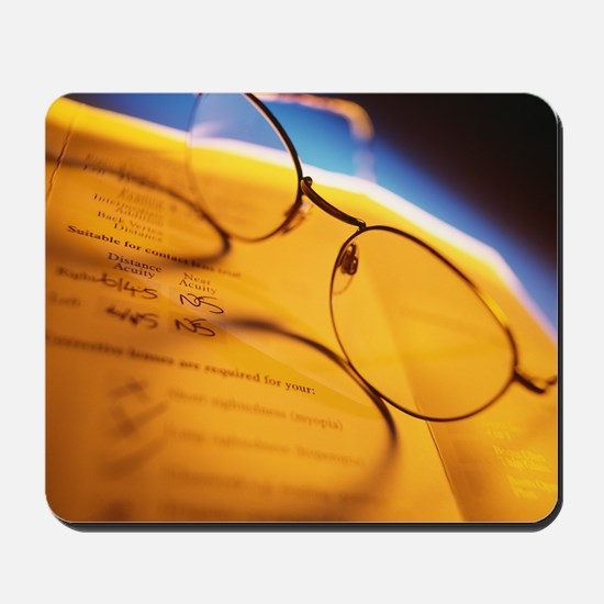 View of a pair of spectacles Mousepad