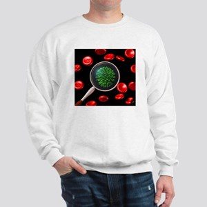 Virus and red blood cells Sweatshirt