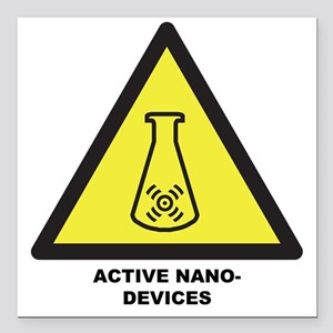 "Active Nano-Devices Square Car Magnet 3"" x 3"""