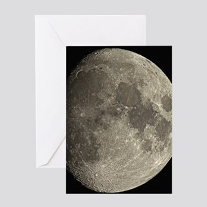 Waxing gibbous Moon Greeting Card