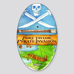 Fort Taylor Pyrate Invasion Sticker (Oval)