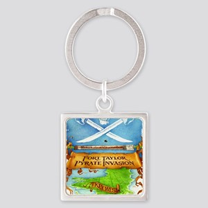 Fort Taylor Pyrate Invasion Square Keychain